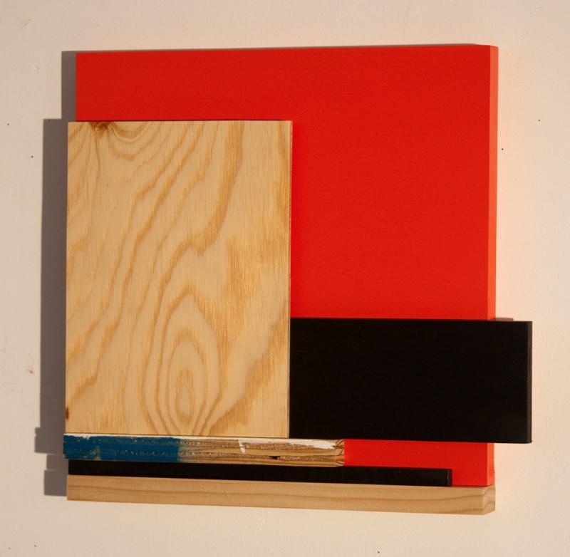mixed media on wood, 13 x 14 x 2
