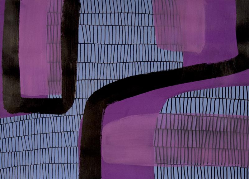 acrylic on paper, 22 x 30
