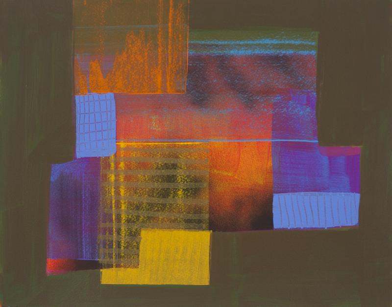 acrylic on paper, 16 x 20