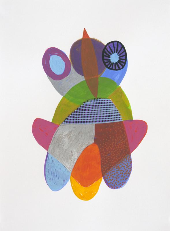 acrylic on paper, 15 x 11