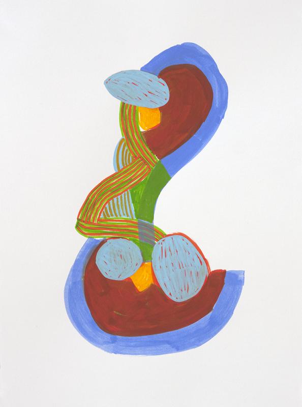 acrylic on paper, 11 x 15